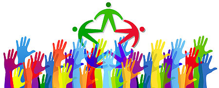Logo Servizio Civile con Mani alzate