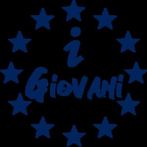 Logo dell'Informagiovani dell'Unione di Pian del Bruscolo, composto da scritta I Giovani dentro il cerchio di stelle europeo