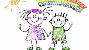 disegno con bambini a colori