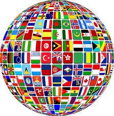 mappamondo composto di bandiere